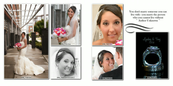 Lindsay and Antonio 10x10 Heirloom Wedding Album 006 (Sides 11-12)