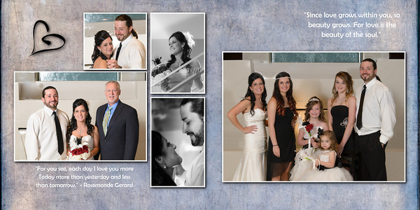 Nikki Chris Wedding  Album 8x8 006 (Sides 11-12)